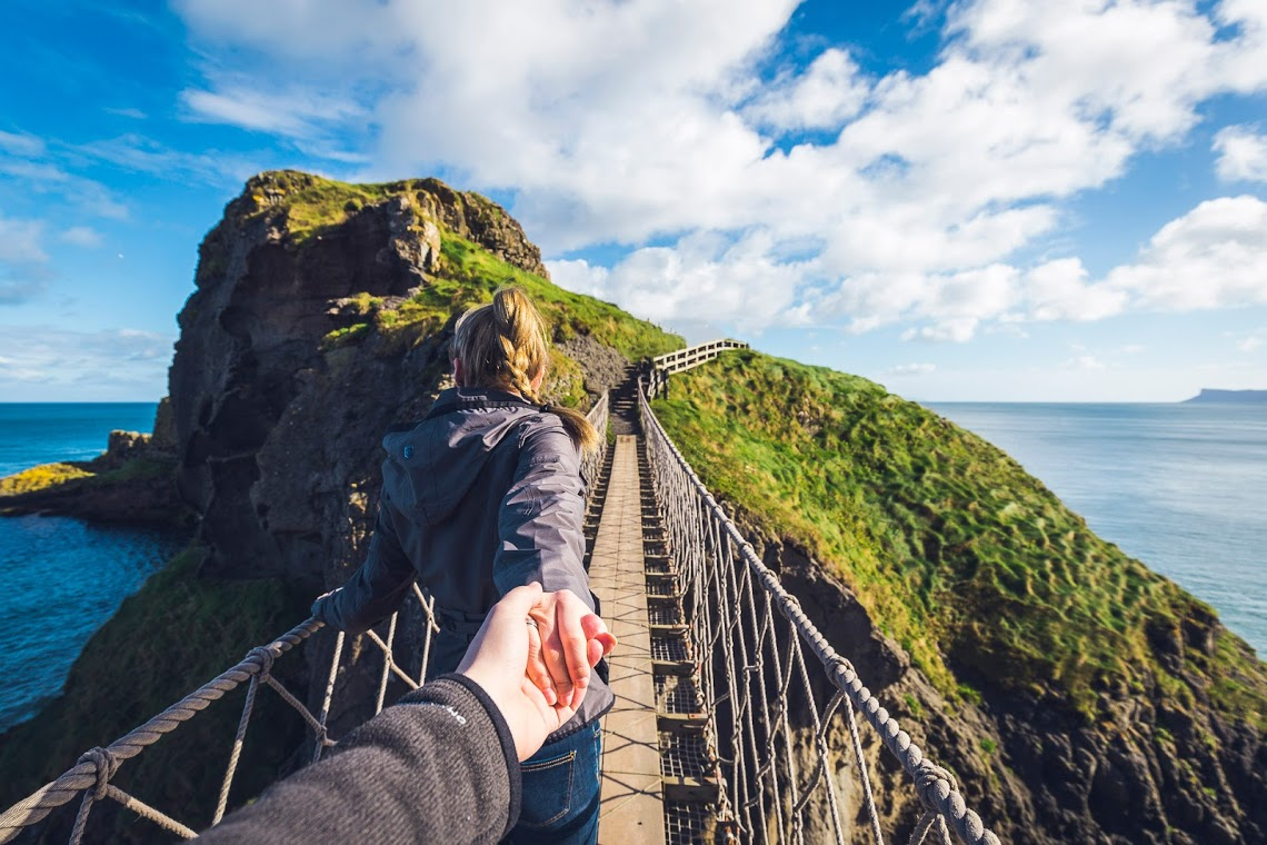 Carrick A Rede Hängebrücke in Nordirland © Sebastian Abendschön