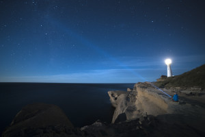 Castlepoint Lighthouse at Night