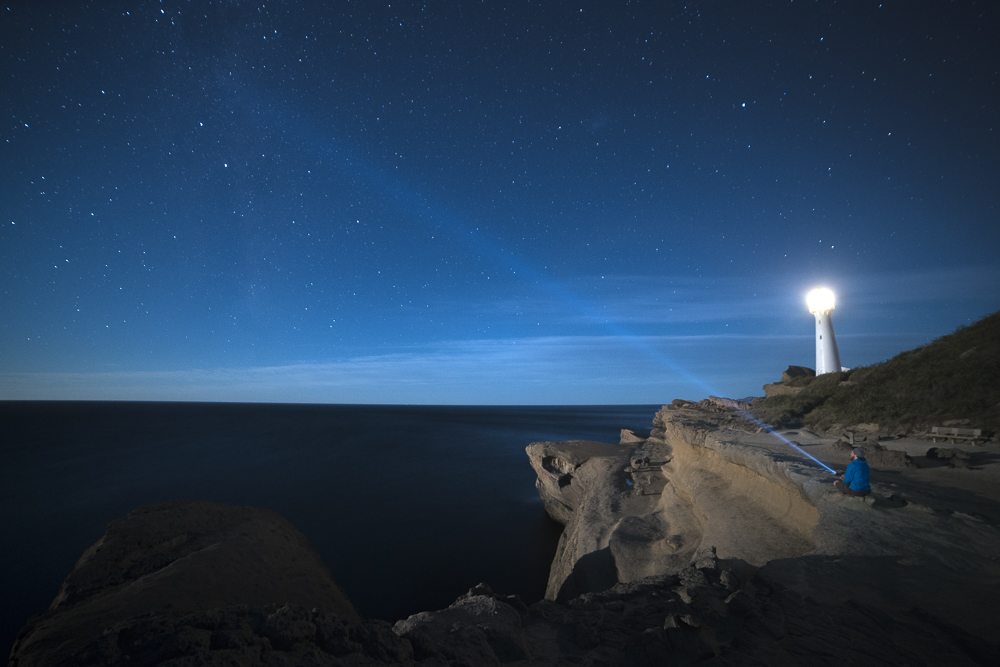 Castlepoint Lighthouse at Night © PhotoTravelNomads.com