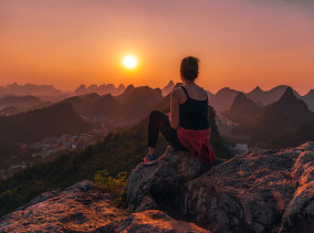 Guilin Sonnenuntergang ©PhotoTravelNomads.com