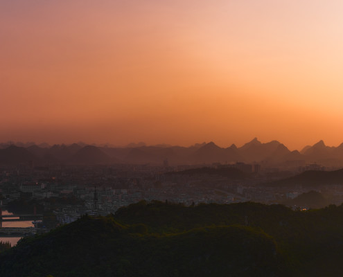 Wonderful Sunset in Guilin (Guizhou / China) ©PhotoTravelNomads.com