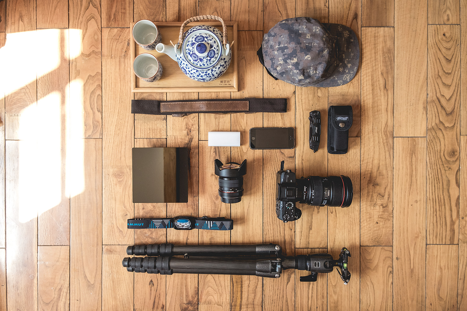 Packshot of my Equipment - Photography Sunrise © PhotoTravelNomads.com