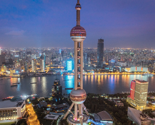 View from Ritz Carlton Roof-Top Bar Shanghai © PhotoTravelNomads.com