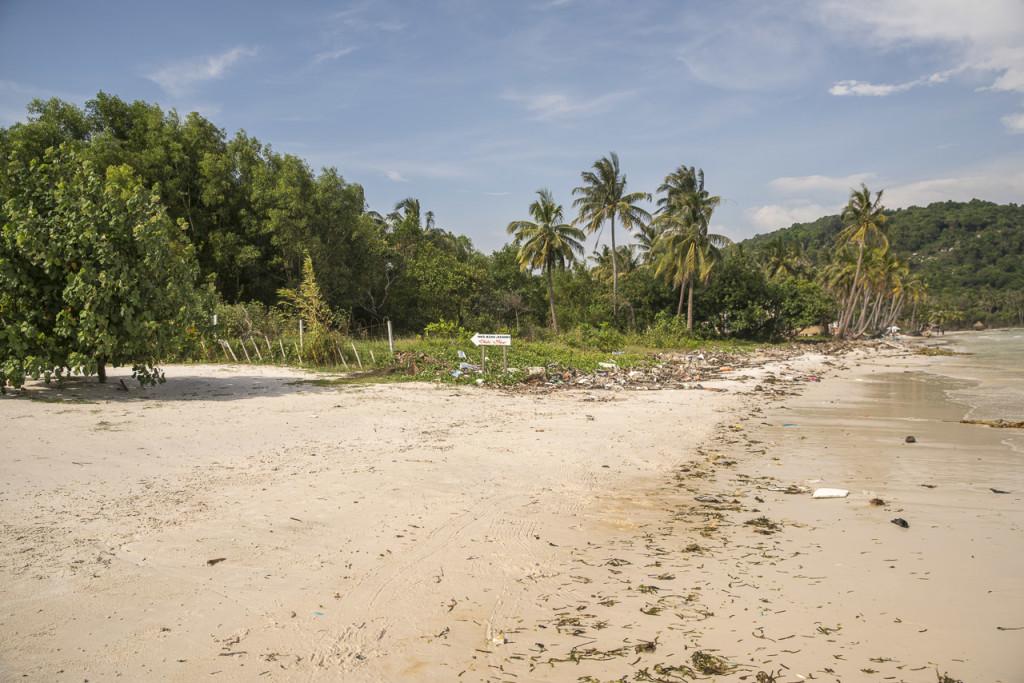 Müll am Sao Beach auf Phu Quoc
