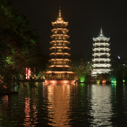 Sun & Moon Pagoda in Guilin © PhotoTravelNomads.com