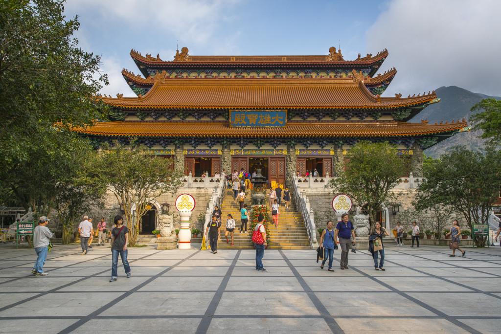 Po Lin Monastery at Lantau Island in Hong Kong