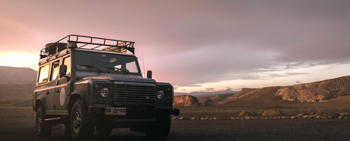 Land Rover Defender in the Atacama Desert © PhotoTravelNomads.com