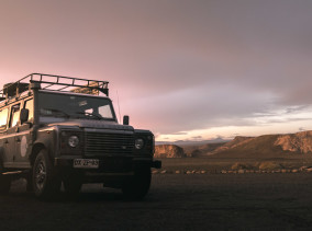 Land Rover Defender in the Atacama Desert © PhotoTravelNomads.com