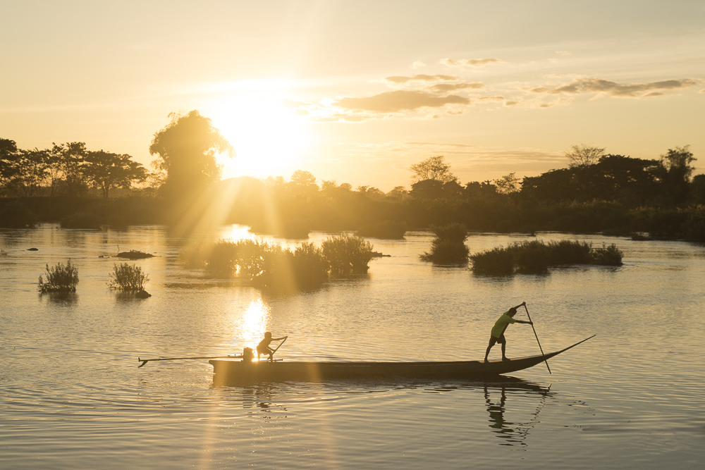 Laos Reiseblog: Sunset auf Don Det in den 4000 Islands © PhotoTravelNomads.com