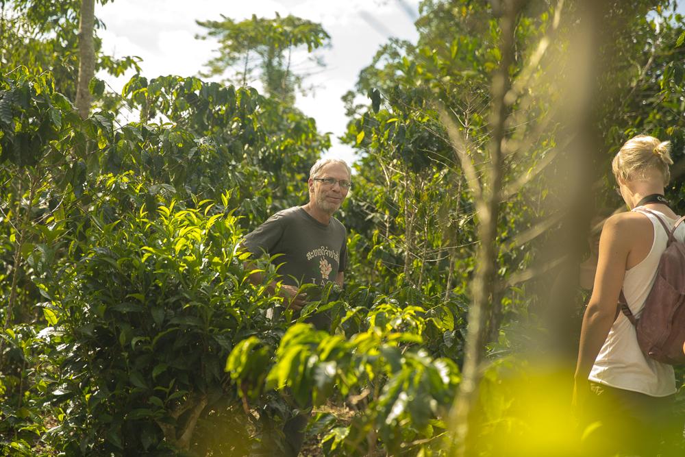 Ein Besuch auf der Kaffeeplantage in Laos