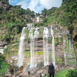Sehenswürdigkeiten in Laos: Bolaven Plateau mit Wasserfällen und Jungle