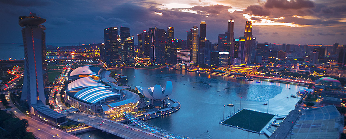 View from Singapore Flyer to Marina Bay © PhotoTravelNomads.com