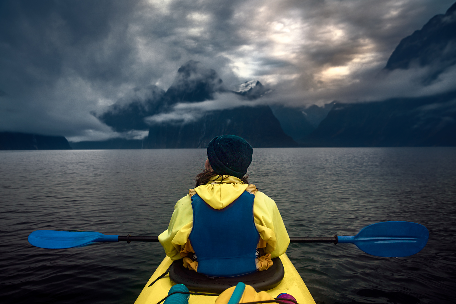 Morning Glory Kayaking Tour im Milford Sound - Fiordland Nationalpark - Kayak © PhotoTravelNomads.com