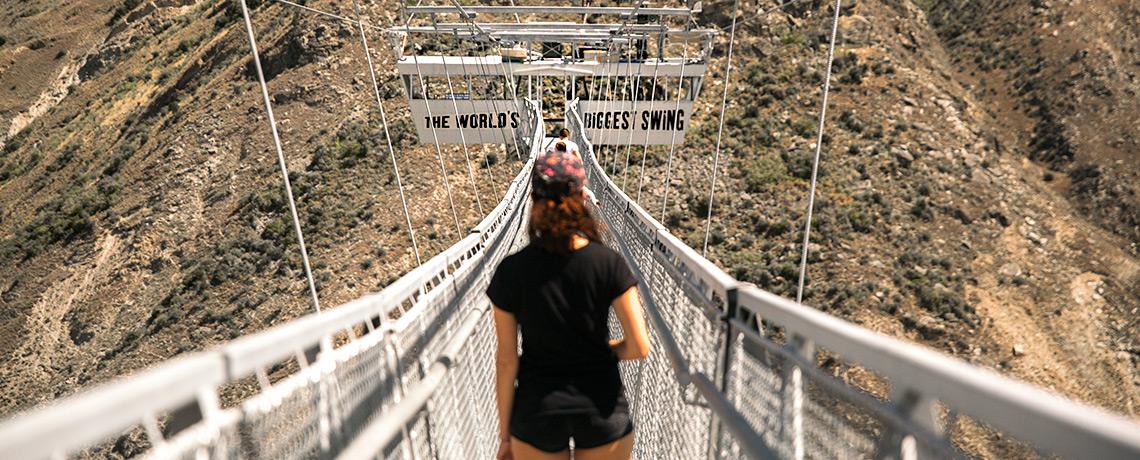 Der Nevis Swing in Queenstown ist die größte Schaukel der Welt