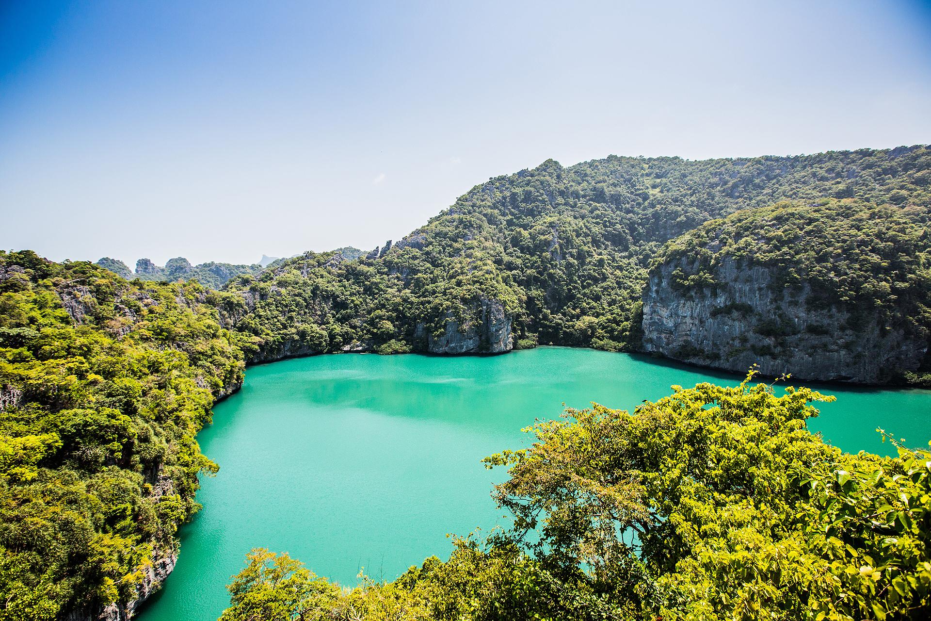 Ko Mae Salzwassersee im Angthong National Marine Park