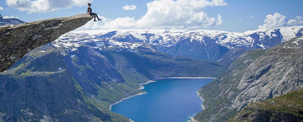 Kristi Kafcaloudis verunglückt bei Trolltunga. Tödlicher Unfall Trolltunga in Norwegen (Archivfoto) © PhotoTravelNomads.com