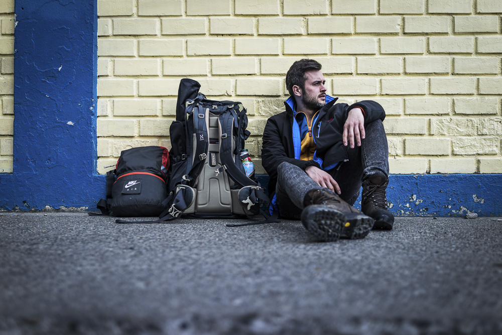 Chile Reiseblog: It's me - waiting for Bus in Puerto Natales in Chile ©PhotoTravelNomads.com
