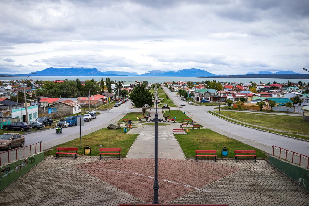 Puerto Natales mit Aussicht auf Puerto Laforest