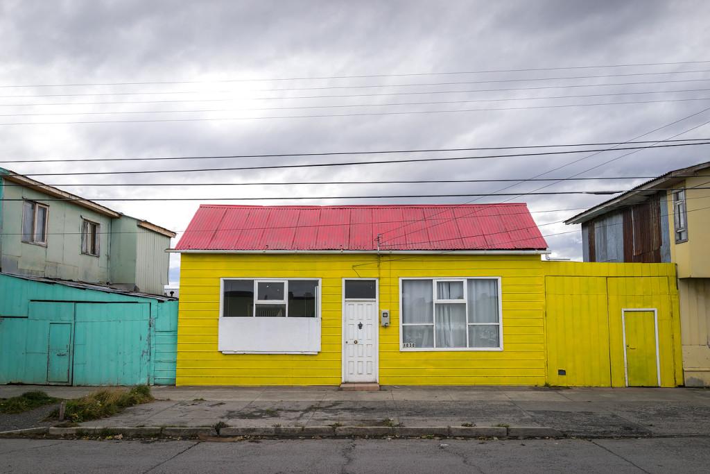 Typische Häuser in Puerto Natales