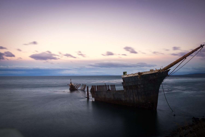 Schiffswrack in Punta Arenas