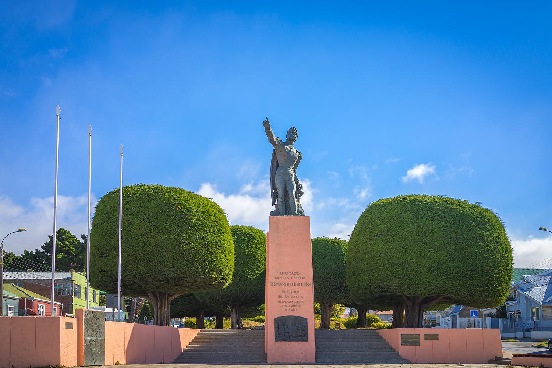 Das Bernardo O'higgens Memorial in Punta Arenas