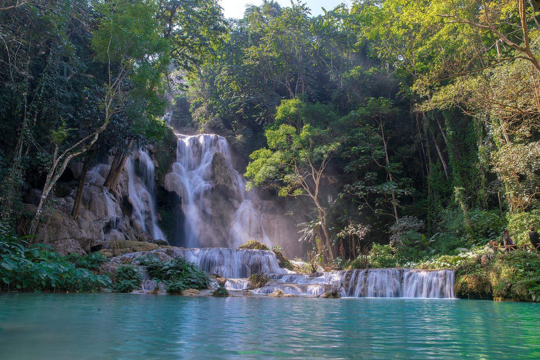 Sehenswürdigkeiten in Laos: Luang Prabang - Kuang Si Waterfall