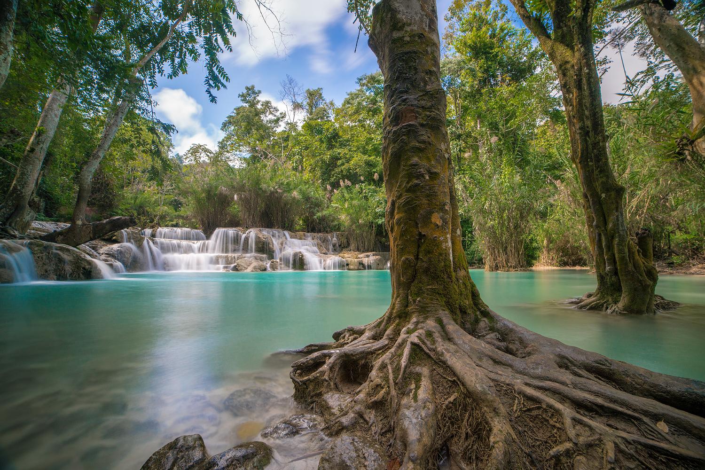 Laos Reiseblog: Luang Prabang - Kuang Si Waterfall - Must See © PhotoTravelNomads.com
