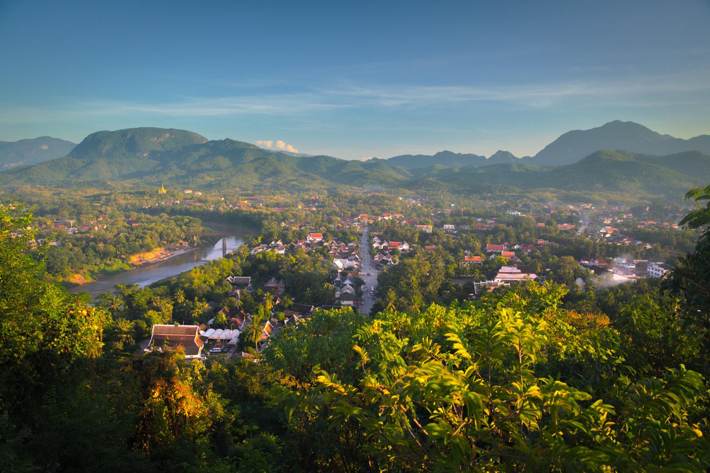 Reiseblog Laos: Luang Prabang view from Mount Phousi © PhotoTravelNomads.com
