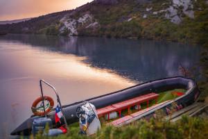 Schlauchboot Tour auf dem Serrano River im Torres del Paine Nationalpark (Chile)