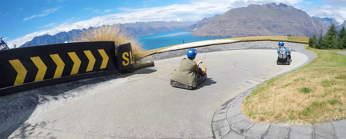 SkyLine Gondola Luge in Queenstown © PhotoTravelNomads.com