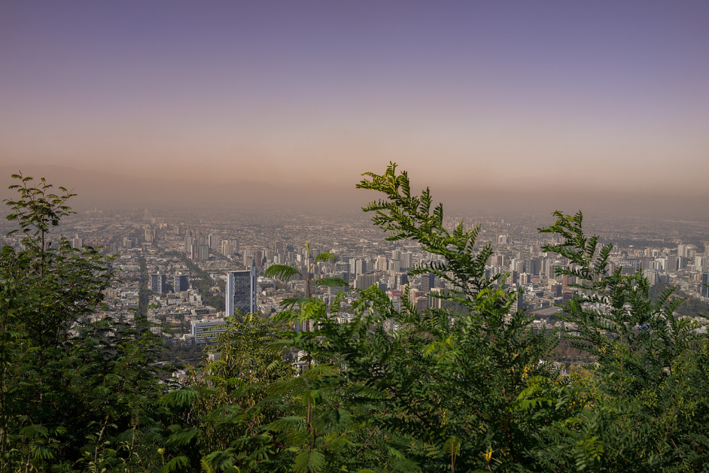 Smog over Cerro San Cristobal in Santiago (Chile) © PhotoTravelNomads.com