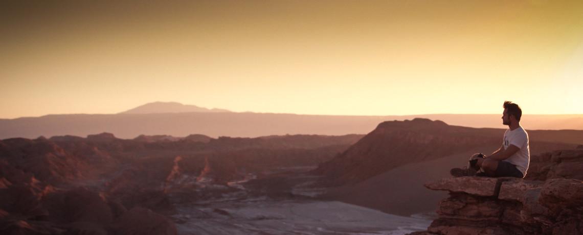 Tal des Mondes - Chile Reiseblog: Sonnenuntergang im Valle de la Luna / Moon Valley © PhotoTravelNomads.com