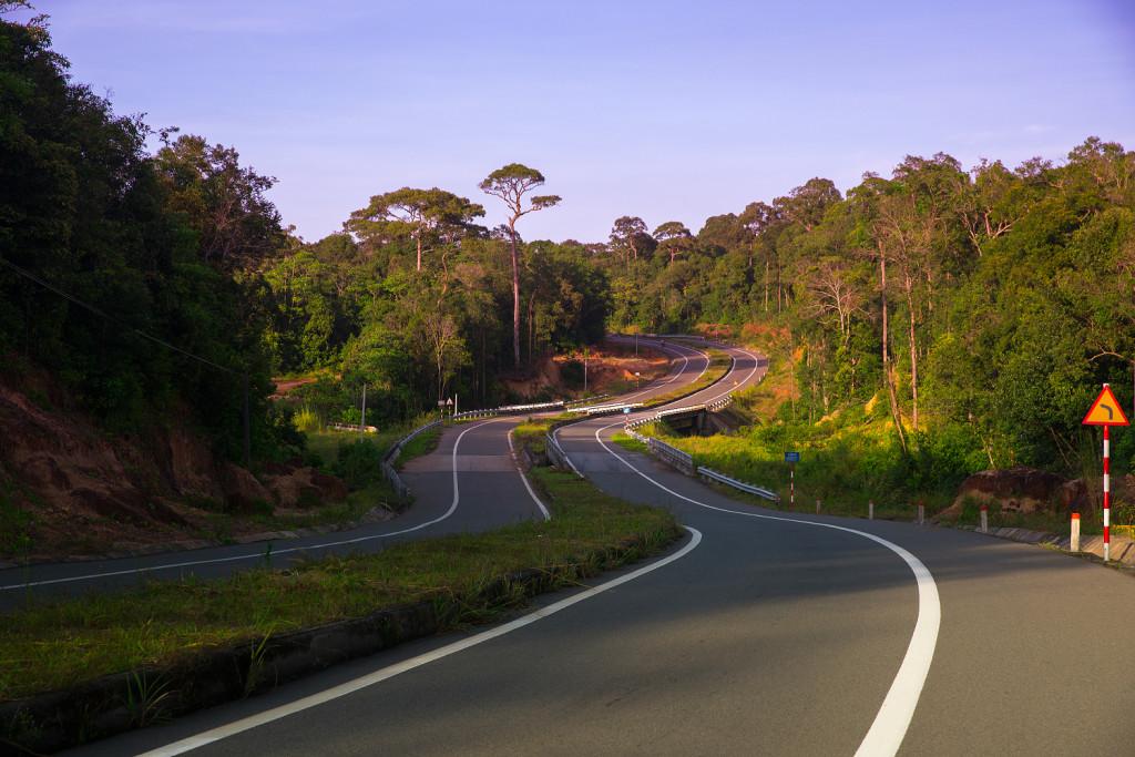 Phu Quoc Straßen in den Norden Richtung Suối Cái - Gành Dầu