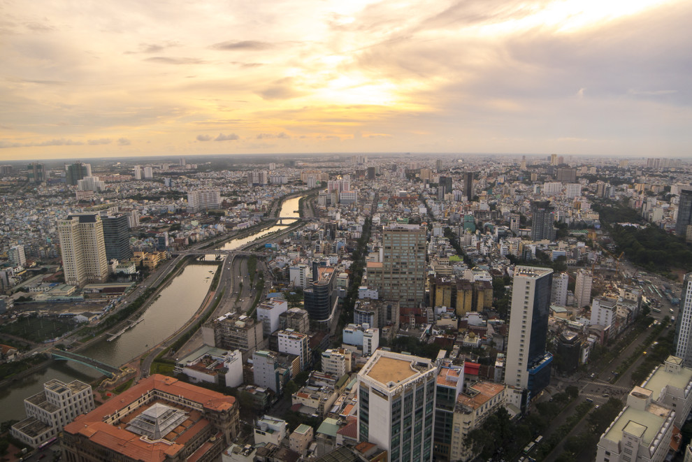 View over Ho Chi Minh City in Vietnam © PhotoTravelNomads.com