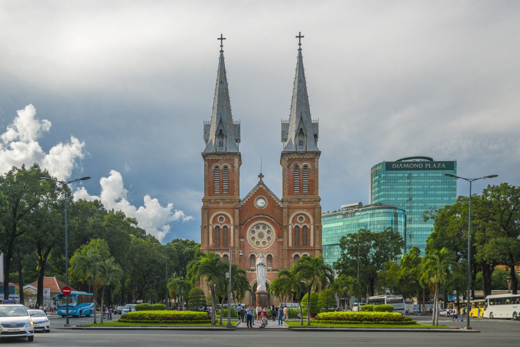 Cathedrale Ho Chi Minh City in Vietnam © PhotoTravelNomads.com