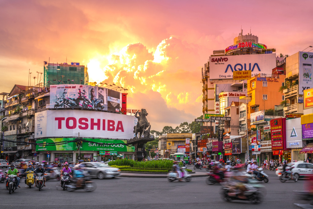 Round about in Ho Chi Minh (Vietnam) © PhotoTravelNomads.com