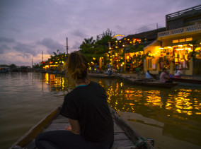 Canoe Tour at Thu Bon River in Hoi An in Vietnam © PhotoTravelNomads.com
