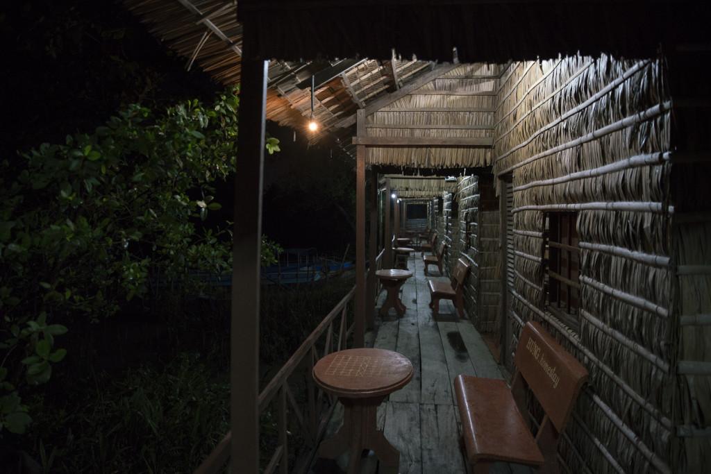 Typische Homestay-Hütten am Mekong Delta Vietnam