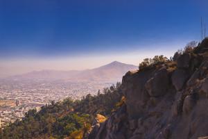 Chile Reiseblog: View from Cerro San Cristobal in Santiago (Chile) © PhotoTravelNomads.com