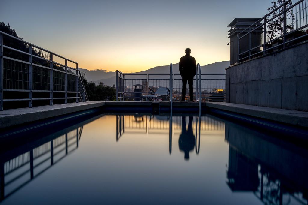 Aussicht vom Roof-Top des AirBnB Apartments in Bellavista - Santiago de Chile © PhotoTravelNomads.com