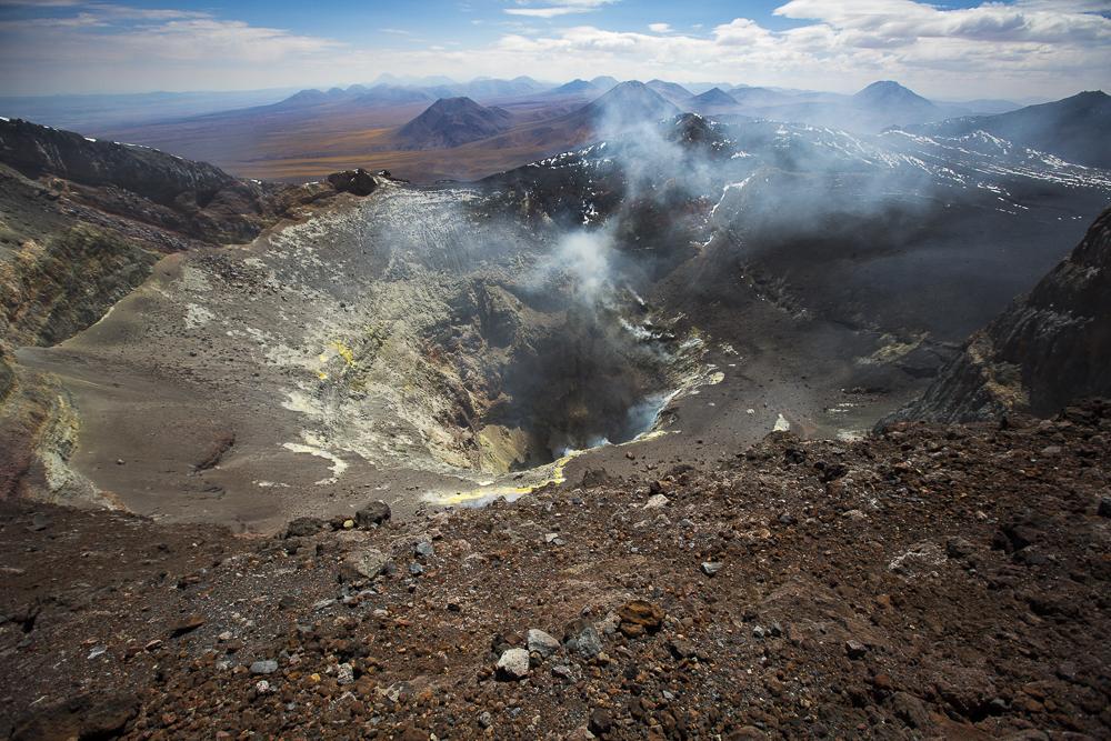 Vulkan Lascar - Innenansicht des Vulkans ©PhotoTravelNomads.com