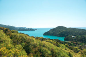 Aussicht bei der Wanderung im Abel Tasman