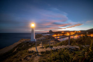 Castlepoint Lighthouse bei Nacht