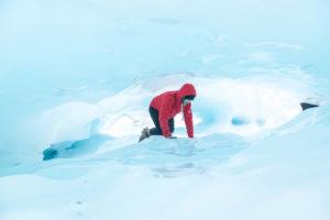 Fox Gletscher - Gletscherspalte