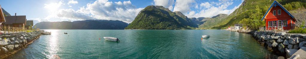 Norwegen Reiseroute: Hütte am Hardangerfjord