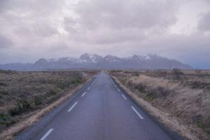 Straßen in den Lofoten