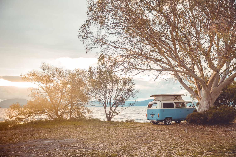 VW Campervan - Sonnenuntergang