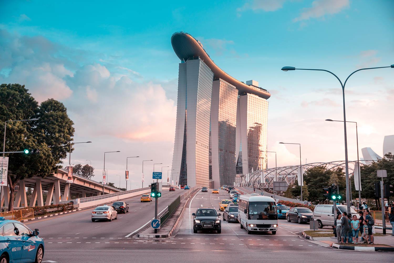 Weihnachten in Singapur: Marina Bay Sands Hotel