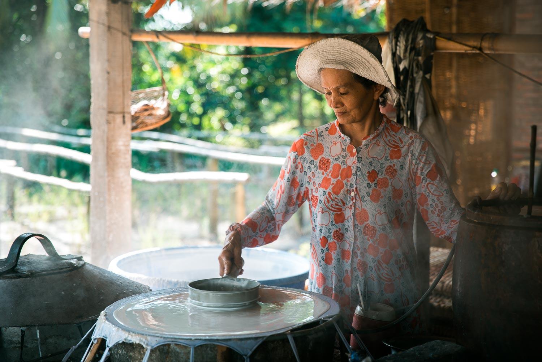Herstellung von Reispapier