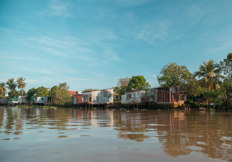 Stelzenhaus am Mekong